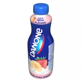 Yogur para beber sabor fresa y plátano