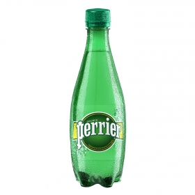 Agua mineral Perrier natural con gas 50 cl.