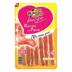 Bacon de pavo en lonchas El Pozo Bienstar sin gluten y sin lactosa 170 g.