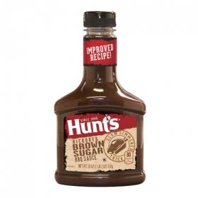 Salsa barbacoa con azúcar moreno Hunt's botella 510 g.