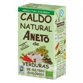 Caldo natural de verduras de cultivo ecológico