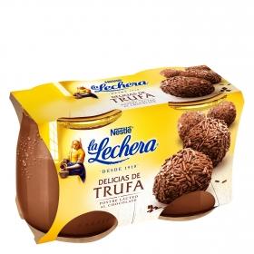 Postre delicias de trufa Nestlé La Lechera pack de 2 unidades de 125 g.