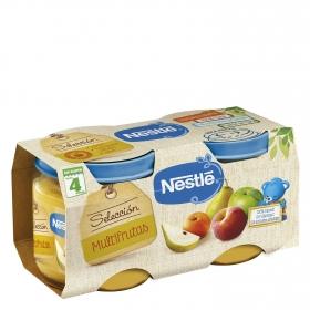 Tarrito multifrutas Nestlé sin gluten pack de 2 unidades de 200 g.