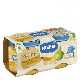 Tarrito de manzana golden y plátano Nestlé sin gluten pack de 2 unidades de 200 g.