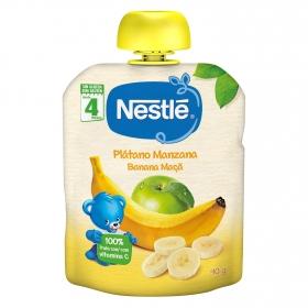 Bolsitas de plátano y manzana Nestlé sin gluten 90 g.