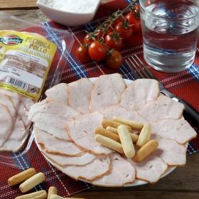 Pechuga de pollo asada loncheada La Carloteña sin lactosa envase 100 g