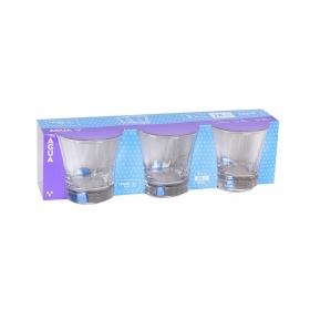 Set de Vaso de Vidrio Truva 28cl  Transparente