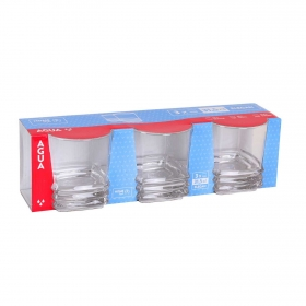 Set de Vaso Semi cuadrado de Vidrio Elegan 31,5cl Transparente