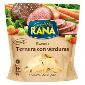 Ravioli de ternera con verduras Rana 250 g.