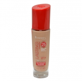Maquillaje Lasting Finish 25h. Con sérum nº 200 Soft Beige Rimmel 30 ml.