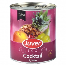 Cocktail 5 frutas en Almíbar Juver 500 g.