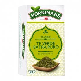 Té verde extra puro en bolsitas Hornimans 20 ud.