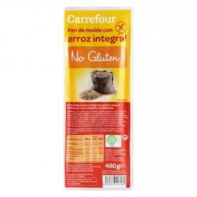 Pan de molde con arroz integral Carrefour sin gluten  480 g.