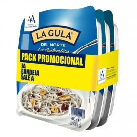 Gula del norte Angulas Aguinaga pack de 3 unidades de 200 g.