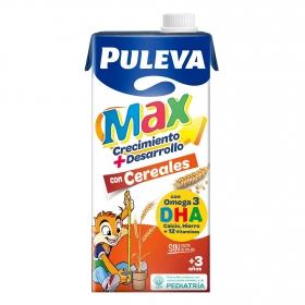 Bebida láctea crecimiento y desarrollo cereales Puleva Max sin gluten brik 1 l.