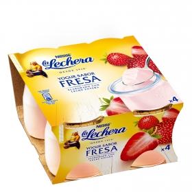 Yogur de fresa Nestlé La Lechera pack de 4 unidades de 125 g.