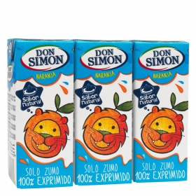 Zumo naranja exprimida