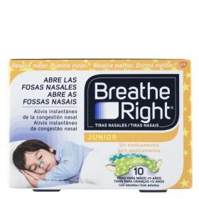 Tiras nasales junior Breathe Right 10 ud.