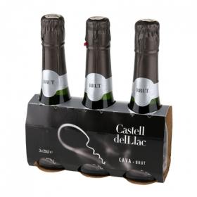 Cava Castell del Llac brut pack de 3 botellas de 20 cl.