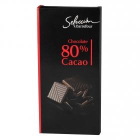 Chocolate extra negro 80%