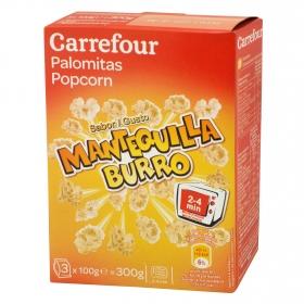 Palomita de maíz con mantequilla