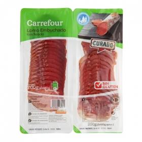 Lomo embuchado en lonchas Carrefour sin gluten pack de 2 unidades de 100 g.