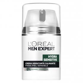 Crema hidratante facial para piel sensible L'Oréal-Men Expert 50 ml.
