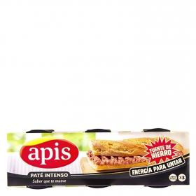 Paté Apis pack de 3 unidades de 80 g.