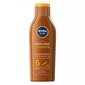 Leche solar zanahoria FP 6 Protección baja Nivea 200 ml.