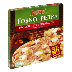 Pizza Forno Di Pietra Jamón y Queso