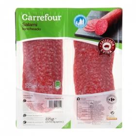 Salami extra en lonchas Carrefour pack de 2 unidades de 112,5 g.