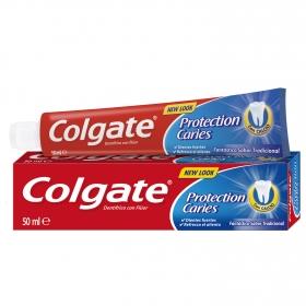 Dentífrico Protección Caries fluor + calcio Colgate 50 ml.