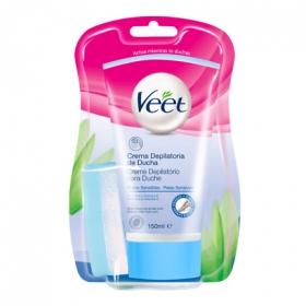 Depilatorio Crema de Ducha piel sensible Veet 150 ml.