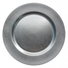 Bajoplato melamina 33cm plata