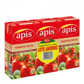 Tomate frito Apìs sin gluten pack de 3 briks de 400 g.