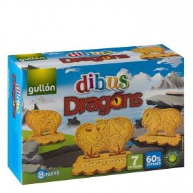 Galletas Dibus Dragons Gullón 320 g.