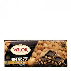 Chocolate negro 70% con almendras