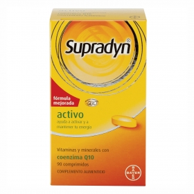 Complemento vitamínico con coenzima Q10 Supradyn Activo Bayer 90 ud.