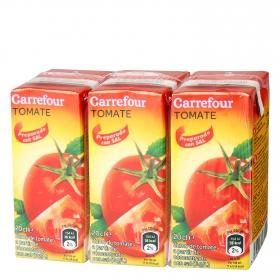 Zumo de tomate Carrefour con sal pack de 3 briks