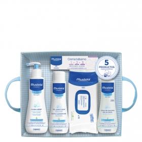 Canastilla bebé azul 5 productos