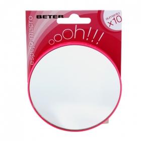 Espejo de aumento x10 con ventosa