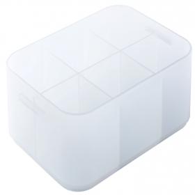 Caja con separadores de Plástico Pratik A6 baja Crf H.- Transparente