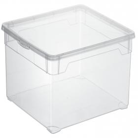 Caja con tapa de Plástico Basic 18 Litros Transparente