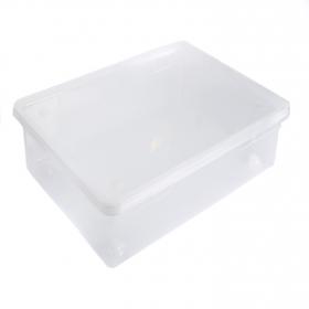 Caja con tapa de Plástico Basic 55 Litros Carrefour Home- Transparente