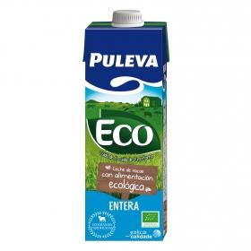 Leche entera ecológica Puleva brik 1 l.