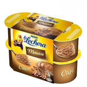 Mousse de café Nestlé - La Lechera pack de 4 nidades de 100 g.