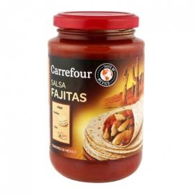 Salsa fajitas Carrefour tarro 430 g.