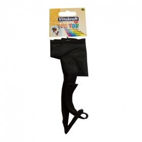 Bozal nylon talla xs 10cm negro perro.