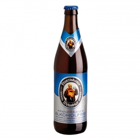 Cerveza Franziskaner Weissbier sin alcohol botella 50 cl.