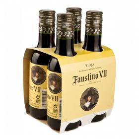 Vino D.O. Rioja tinto crianza Faustino VII pack de 4 botellas de 18,75 cl.